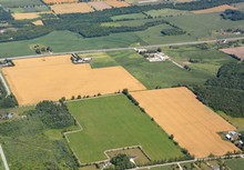 Aerial View Of Farmland In The...