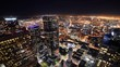 Time Lapse of Downtown LA Night City Lights -Tilt Down-