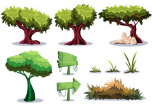 Cartoon Vector Nature Landscape Object With Separated Layers For Game Art And Animation Game Design Asset In 2d Graphic