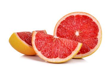 Slice Grapefruit isolated on the white background