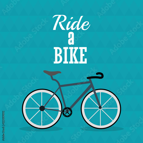 Fototapety, obrazy: ride a bike emblem of bike and cycling related icons image vector illustration