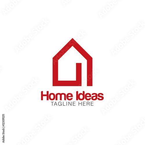 Home Idea Creative Concept Logo Design Buy This Stock
