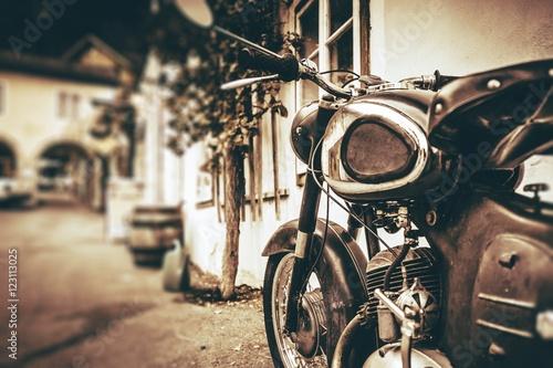 Vintage Motorcycle Closeup © Tomasz Zajda