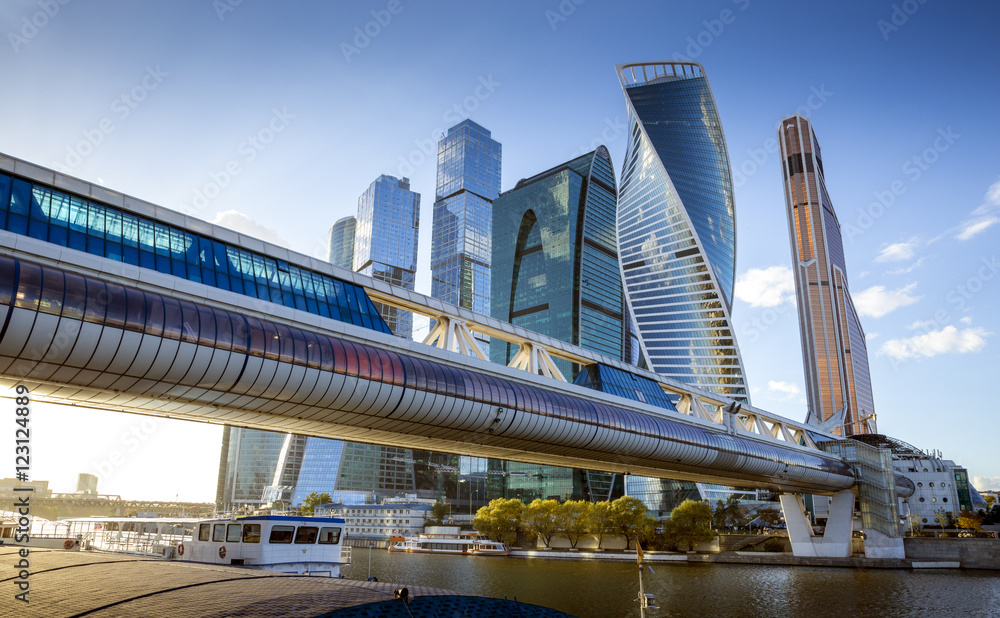 Fototapety, obrazy: Moscow City International Business Center in Russia