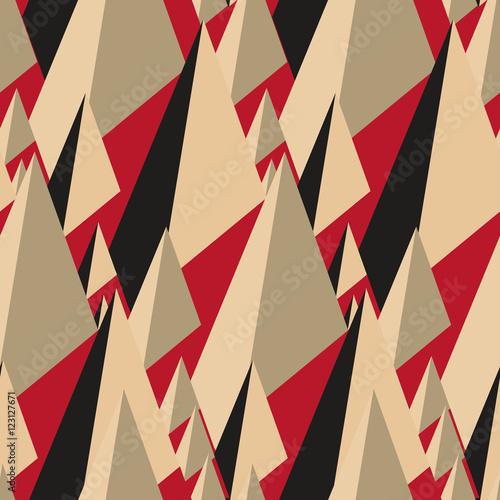 vintage-geometryczny-trojkat-bez-szwu-i-szczyty-w-czerni-i-czerwieni