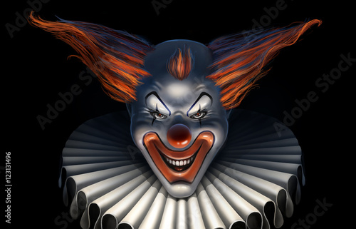 Photo  scary clown