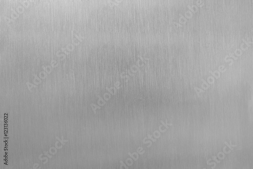 Photo Aluminium brushed plate texture for background.