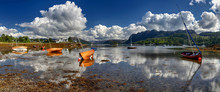 Wooden Boats In The Harbour Of Plockton (Highlands, Scotland)