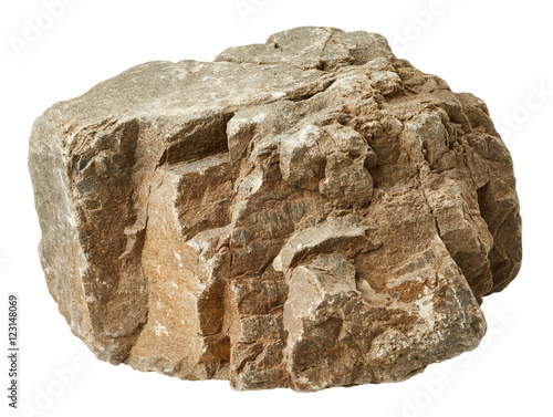 Rock isolated on white background Fototapete