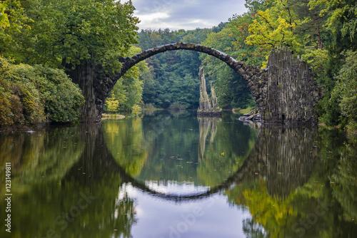 Spoed Fotobehang Bruggen Devil's Bridge