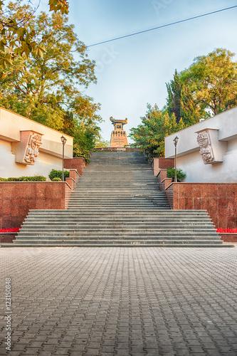 Fotografie, Obraz  Scenic staircase to the Monument to Alexander Kazarsky, Sevastop