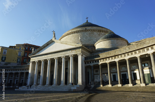 Fényképezés  Piazza del Plebiscito, Naples, showing the church of San Francesco di Paola
