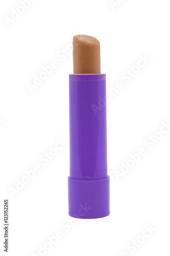 Fotografía  Hygienic lipstick on white background