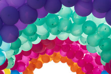 Multicolored Arched Balloons
