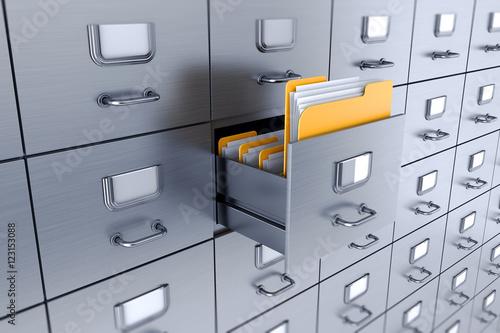 Filing cabinet 3D Canvas Print