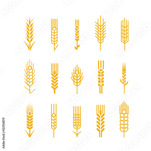 Spikes vector icon Design Elements Logo Bread Bakery Beer Wallpaper Mural