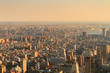 New York City skyline from the Empire State Building at sunset
