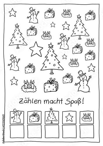 ausmalbild z hlen weihnachten buy this stock illustration and explore similar illustrations at. Black Bedroom Furniture Sets. Home Design Ideas