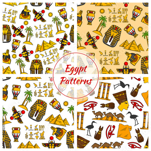 Ancient Egypt culture patterns - Buy this stock vector and explore