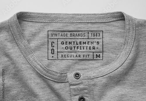 T Shirt Neck Label Mockup