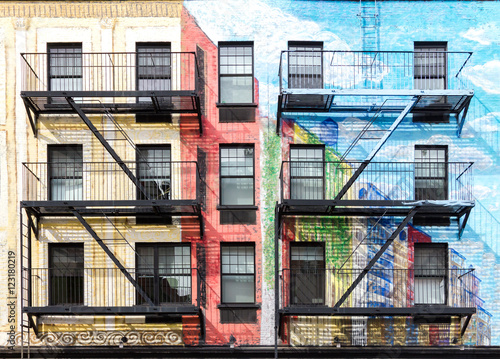 Colorful buildings in the East Village of Manhattan, New York City - 123180219