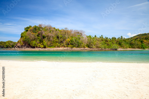 Photo Stands Turquoise Tropical beach in Thailand