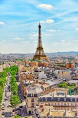 Fototapeta Paryż PARIS, FRANCE- JULY 06, 2016 : Beautiful panoramic view of Paris