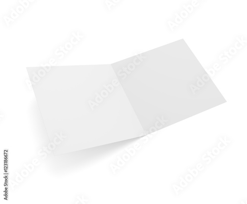 Open square format 3d illustration greeting card isolated - Buy this ...