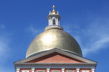 Massachusetts State House In Boston, United States Of America
