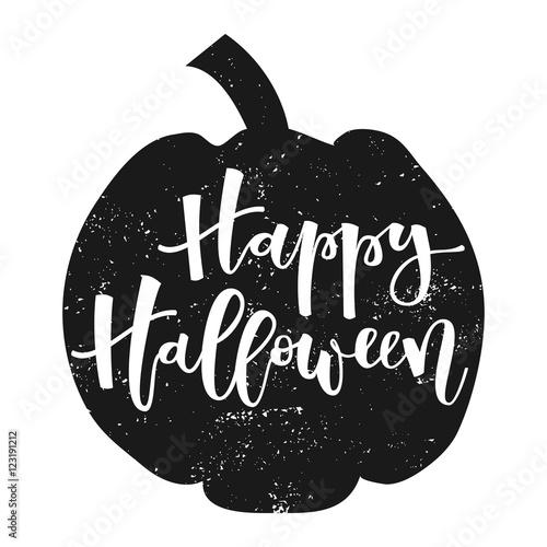 Ingelijste posters Halloween Happy halloween greeting
