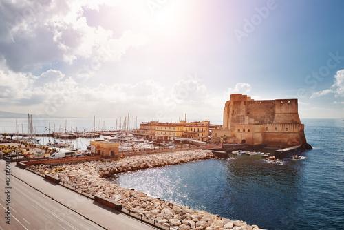 Foto auf AluDibond Neapel Naples, Italy - view of Castel dell'Ovo (Egg Castle)