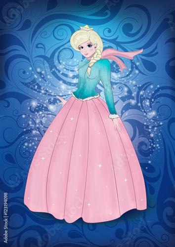 Naklejka premium Ice Princess