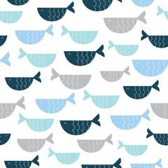 Fototapeta cute fish pattern