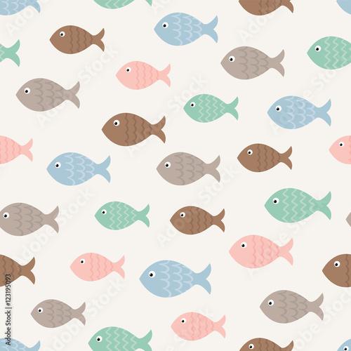 Naklejki witrażowe   wzor-ryby