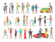 Collection of Characters of Different Social Level