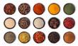 canvas print picture - spices set