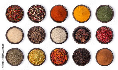 Fotografia spices set