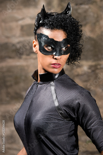 Tableau sur Toile Catwoman Sarah