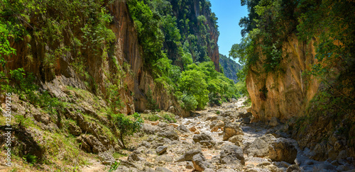 Foto op Canvas Olijf canyon with steep slopes