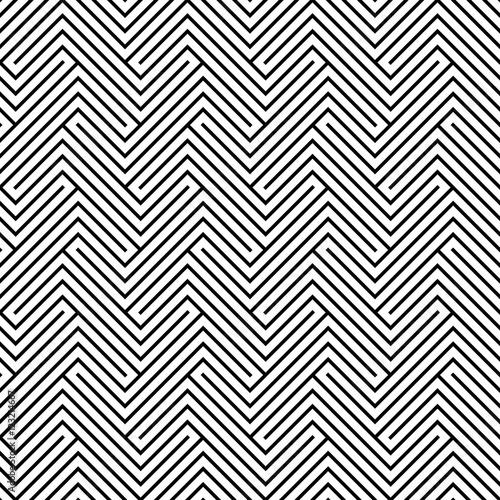 streszczenie-geometrycznej-hipster-czarno-bialy-wzor-poduszki-labirynt