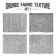 Grunge Fabric Textures Set 1. Vector Illustrations.