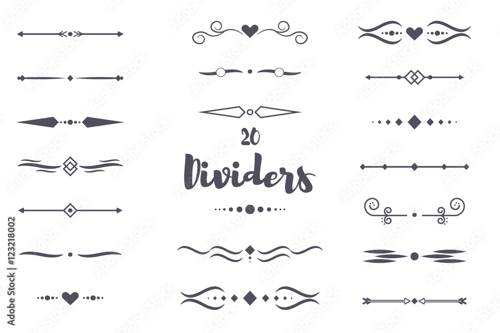Fototapety, obrazy: Collection of vector dividers