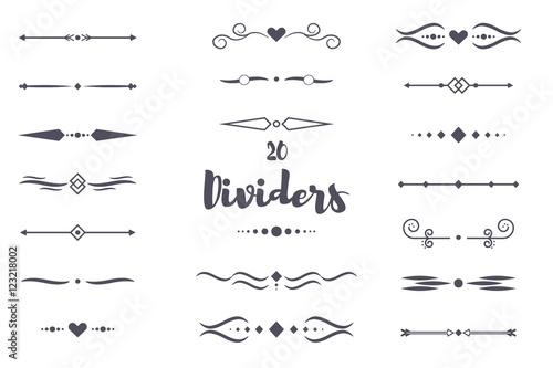 Fotografie, Obraz  Collection of vector dividers