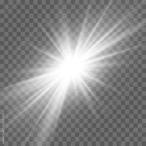 light effect. Star burst with sparkles. Vector illustration