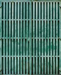 Grungy metal gate, Penang, Malaysia