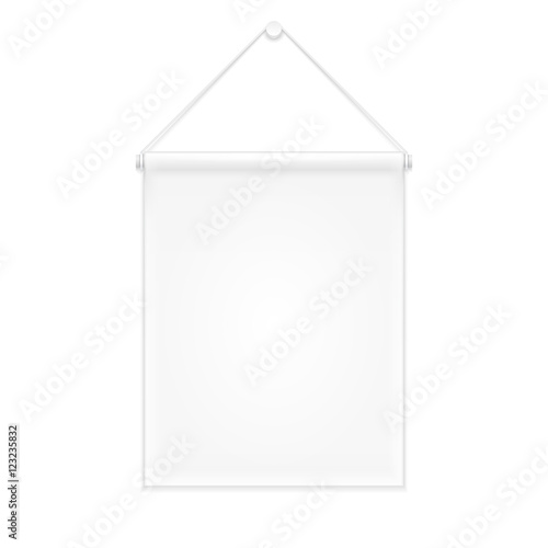 White Canvas Fabric Wall Hanging Award Banner Decor Advertising