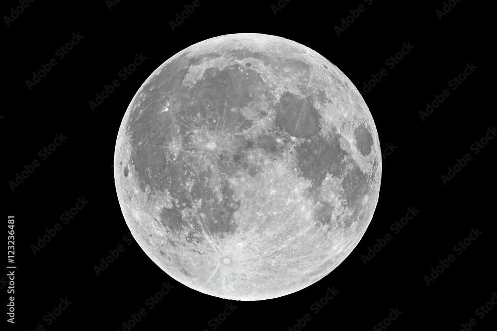 Fototapety, obrazy: Full moon closeup