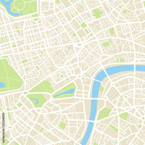 Plakat Streszczenie mapa miasta - ilustracja