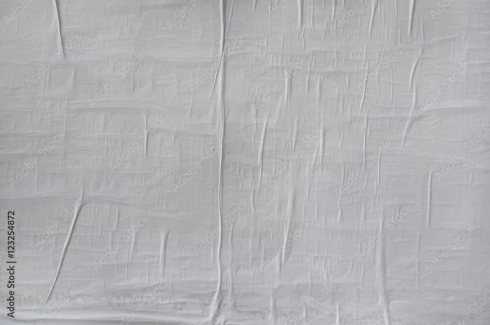 Fototapety, obrazy: Blank poster texture. Wrinkled, crumpled and creased