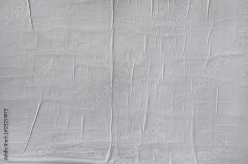 Fototapeta Blank poster texture. Wrinkled, crumpled and creased obraz
